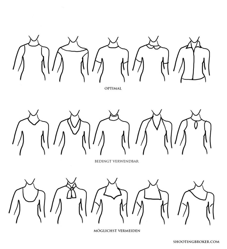 Kragenformen Headshot Kleidung Frau